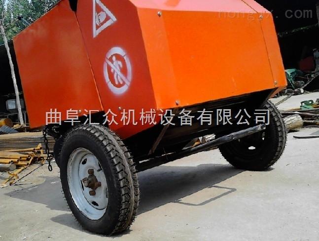 四轮带打圆捆机,拖拉机带动牵引打捆机