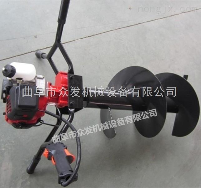 汽油动力小型打桩机 轻便式挖坑机图片